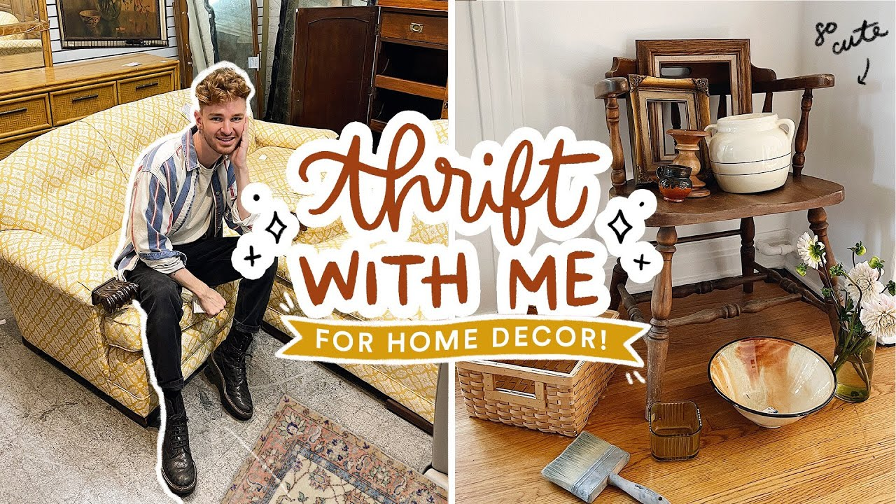 THRIFT WITH ME for Home Decor + HUGE HAUL ✨ *I Found My Dream Vintage Chair!*