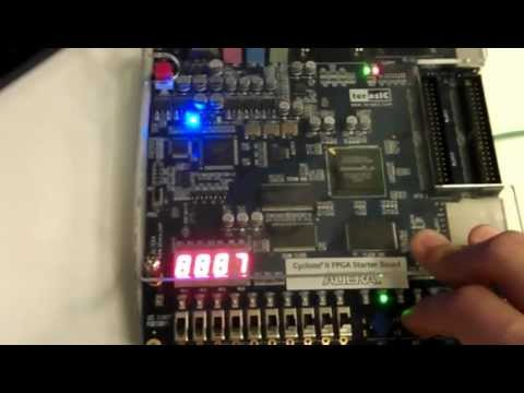 Frequency Counter in VHDL on FPGA (Altera DE1 Board) | FunnyCat TV