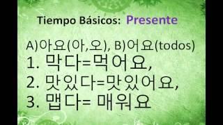 Clase de Coreano, Tiempos básicos