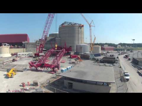 Time lapse of 380ft crane being built at Sequoyah Nuclear Plant