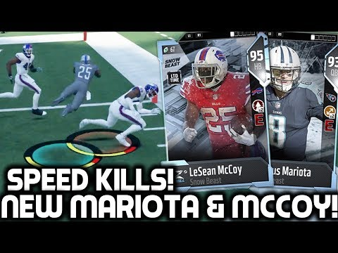 SHADY MCCOY & MARCUS MARIOTA ARE FAST! Madden 18 Ultimate Team