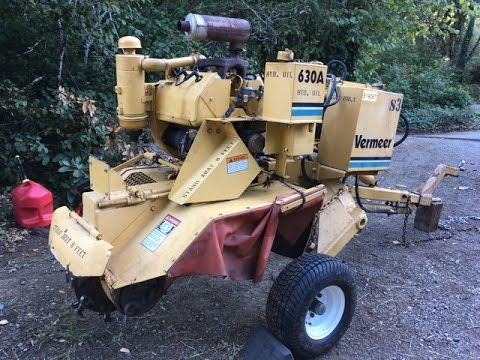 Vermeer 630A Tow Behind Stump Grinder