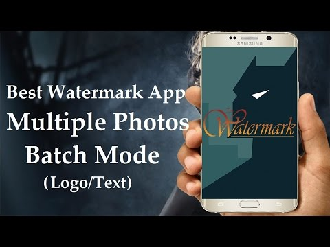 Best Watermark App For Android - How To Add Watermark To Multiple Photos On Android | Easy & Fast |