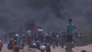 Disturbios en la Franja de Gaza por el traslado de la embajada de EEUU a Jerusalén