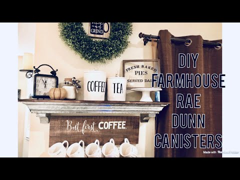 DIY Rae Dunn Inspired Canister