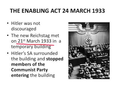 The Enabling Act 24th March 1933
