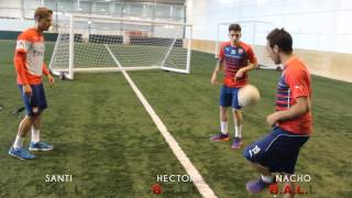 Competition Video. Game of 1-touch between Bellerin, Cazorla and Monreal.