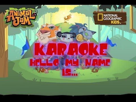 AJMV: Hello My Name Is (Matthew West) / ANIMAL JAM MUSIC VIDEO!!! karaoke