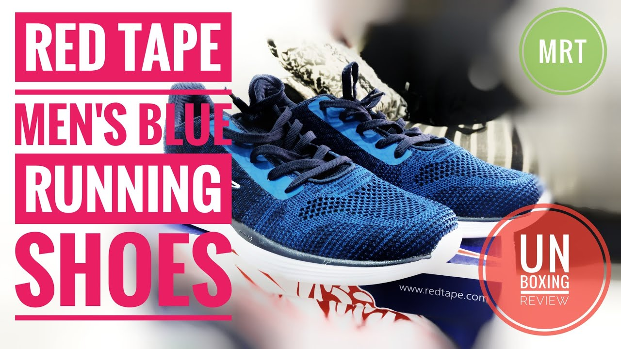 RED TAPE Men's Blue Running Shoes - YouTube