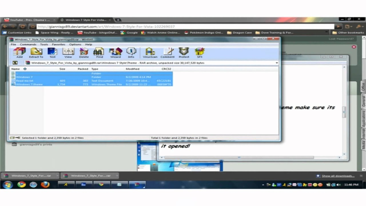 How to install new themes to windows vista youtube for Installing new windows