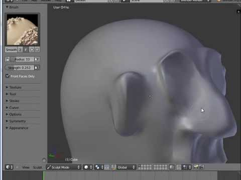 Blender 3D Tutorial - Beginners, Intro to Using Sculpting Brushes ...