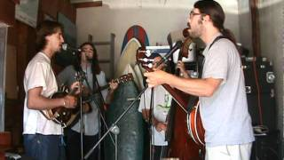 "Green Blossom String Band - ""Pipe Dreams"" live garage rehearsal session"