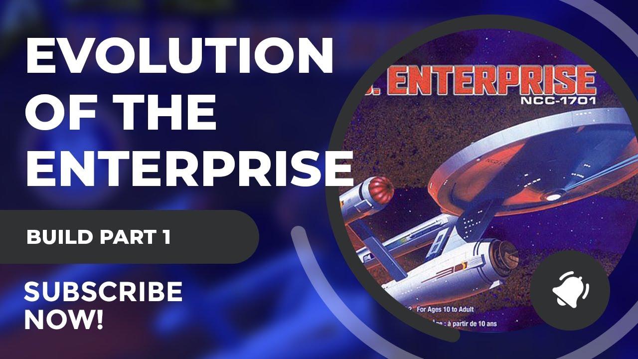 Polar Lights 1/1000 Original Series USS Enterprise Part 1: Evolution of the TOS USS Enterprise