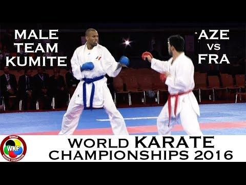 BRONZE (3/4) Male Team Kumite AZE vs FRA. 2016 World Karate Championships
