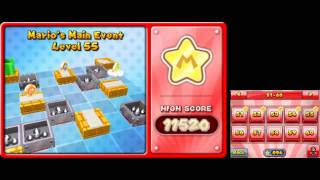 Mario and Donkey Kong: Minis on the Move - 100% Walkthrough - Mario's Main Event Levels 51-60