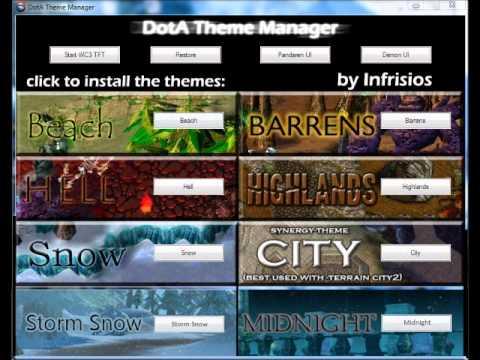 dota theme manager v7 download youtube