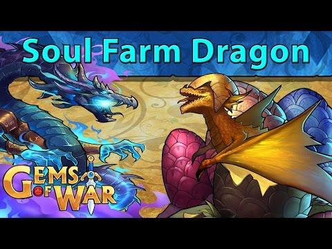 Gems of War: The Dragon Soul Teams - Self Looping Soul Farm Troop