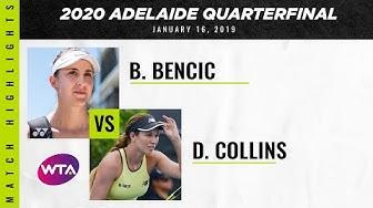 Belinda Bencic vs. Danielle Collins | 2020 Adelaide International Quarterfinal | WTA Highlights