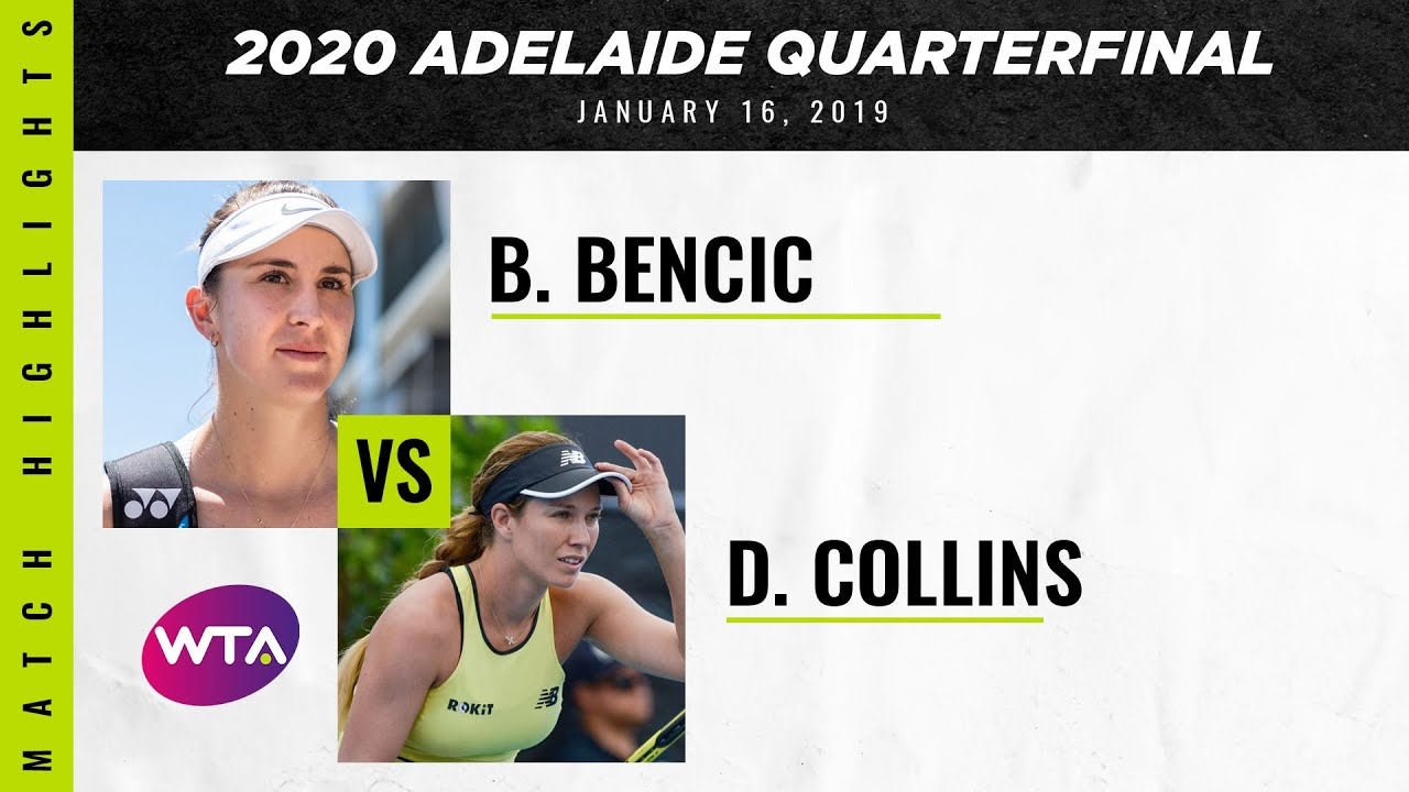 Belinda Bencic vs. Danielle Collins | 2020 Adelaide International Quarterfinal | WTA Highlights