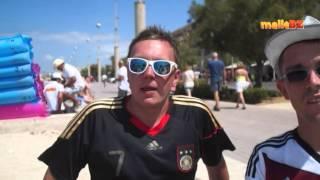 WM Finale 2014 Deutschland gegen Argentinien im Flugzeug