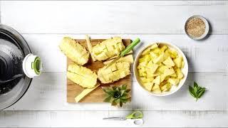 Tefal ActiFry - Карамелизирани ананас и манго с кокосов шербет