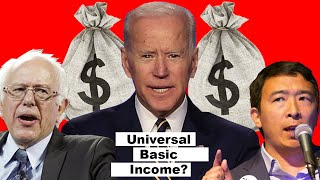 Joe Biden on Universal Basic Income $ (Funny) Feat. Bernie Sanders, Andrew Yang. 2020 Campaign Trail