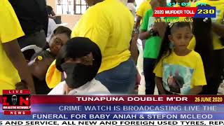 FRIDAY  26TH JUNE 2020 - TUNAPUNA DOUBLE M'DR - FUNERAL FOR BABY ANIAH AND STEFON MCLEOD