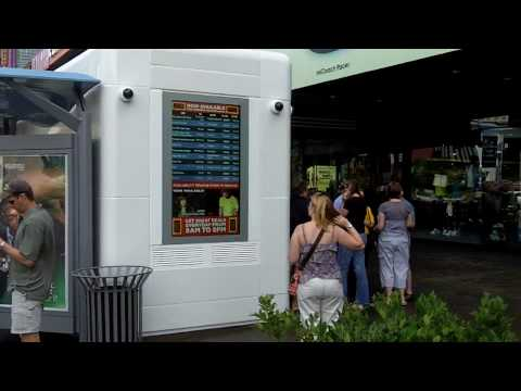 Large outdoor LCD digital signage display for outdoor advertising - by Pacific Digital Signs