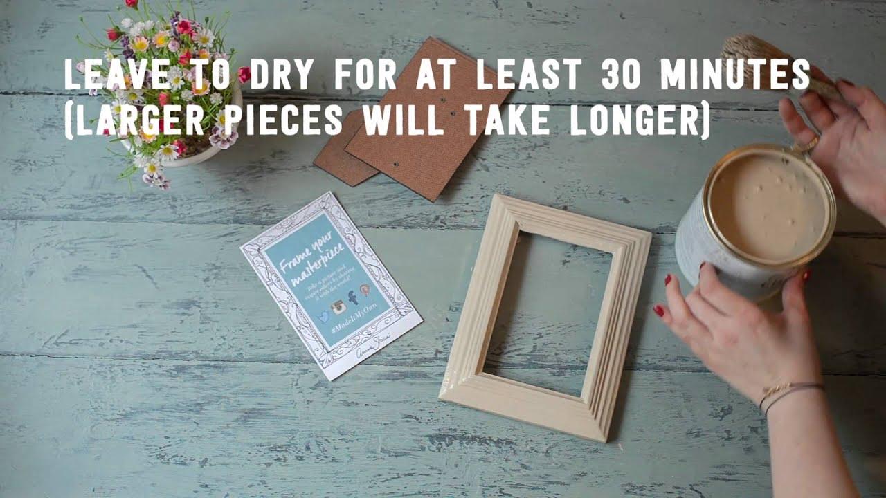 Photo Frame Makeover using Chalk Paint - YouTube