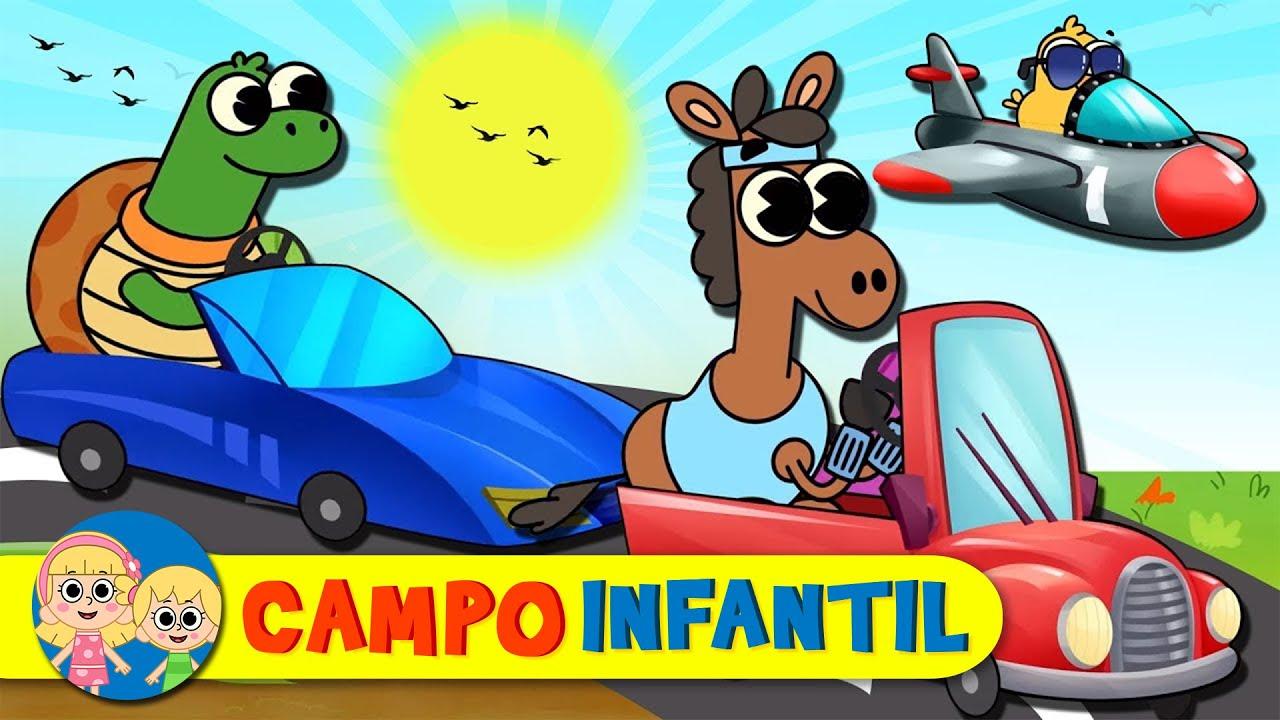 Las ruedas del autobús y más vehículos - Canciones infantiles divertidas | Campo Infantil