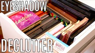 Decluttering Makeup Collection 2017 || Eyeshadow Palettes & Singles Declutter & Purge