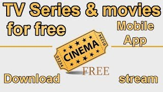 Stream and download TV Series and movies for free