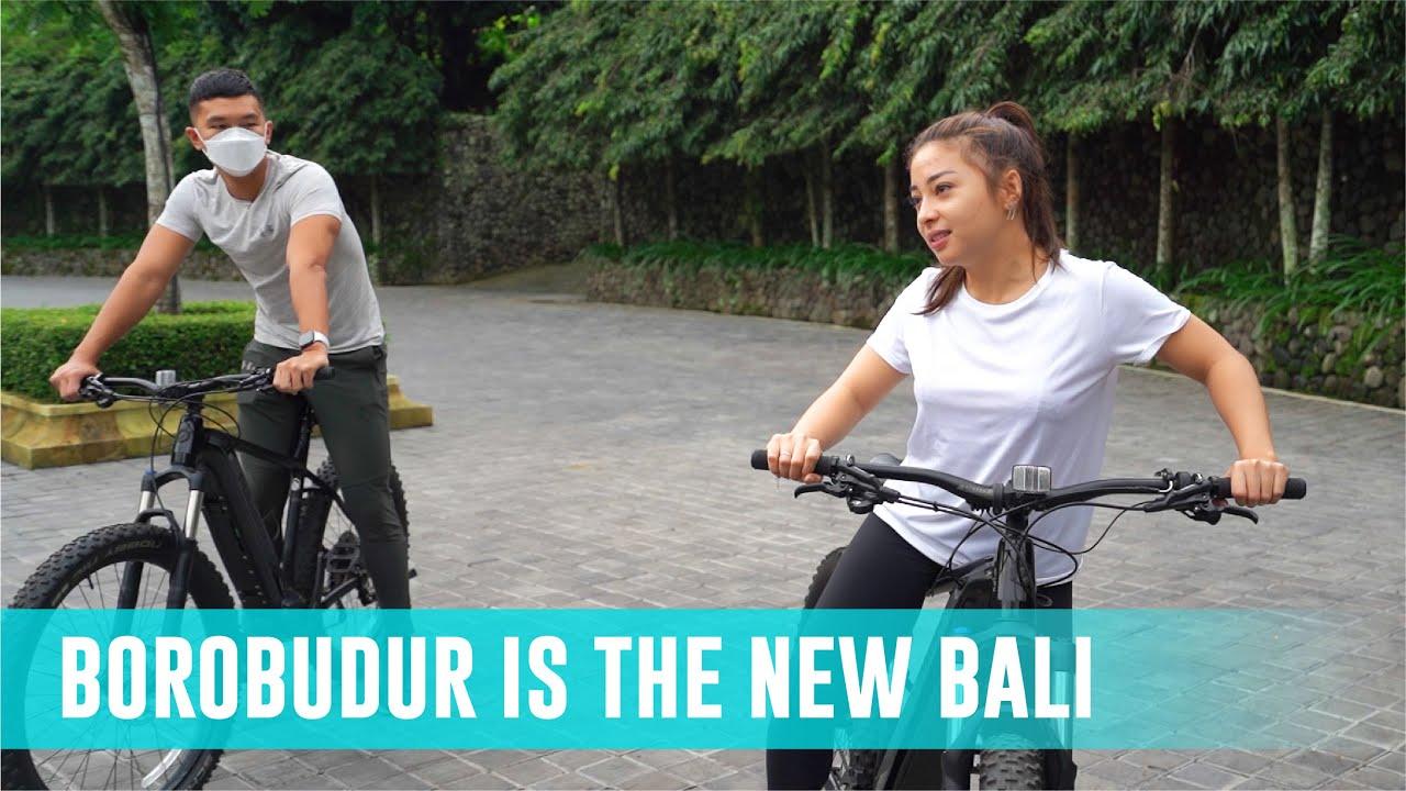 Nikita Willy & Indra Priawan Cycling di Borobudur