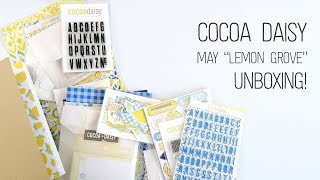 Gambar cover Unboxing // Cocoa Daisy Lemon Grove kits 🍋 // Guest Designer!