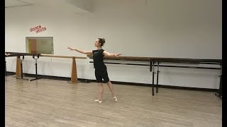 arabesques: ballet tutorial (beginner level)
