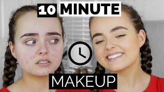 10 MINUTE MAKEUP ROUTINE | ACNE COVERAGE | Conagh Kathleen