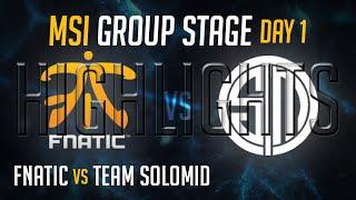 Fnatic vs TSM HIGHLIGHTS - MSI 2015 Groups Day 1 League of Legends Mid Season Invitational 2015