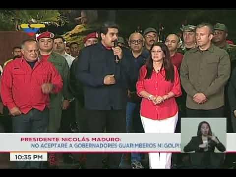 Presidente Maduro tras conocer victoria en 17 gobernaciones en elecciones 15-O
