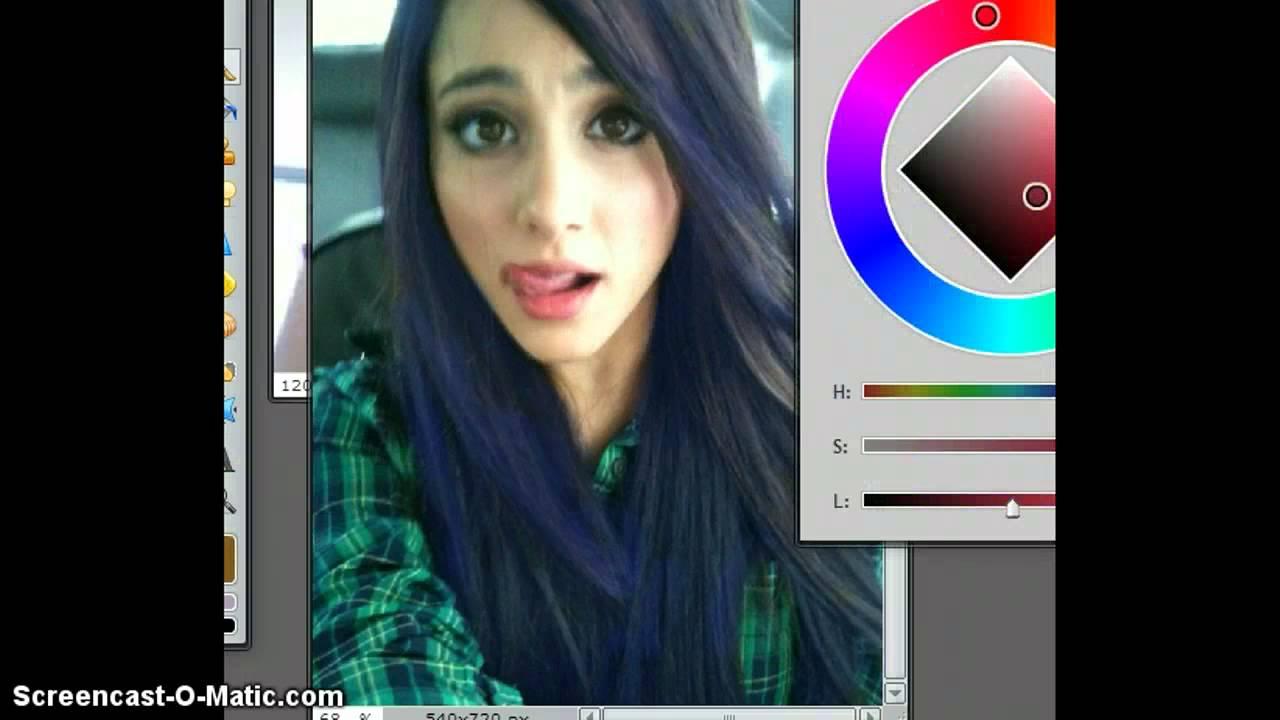 ariana grande hair blue