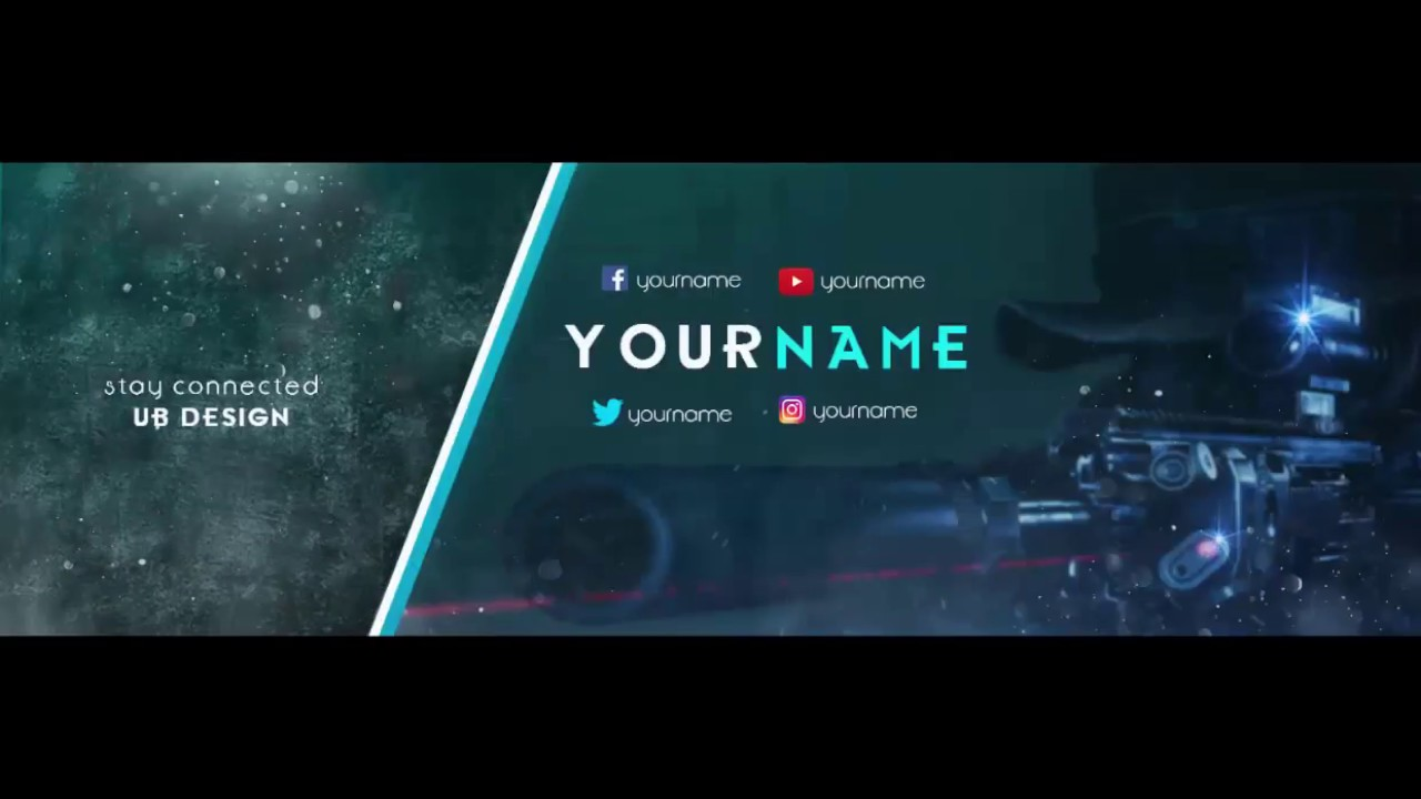 Free Professional Gaming Twitter Header Template Psd