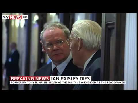 Martin McGuinness Pays Tribute To Ian Paisley