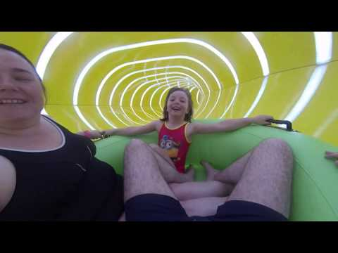 Butlins Skegness: RIPTIDE Raft Waterslide POV *New for 2015* (Splash Waterworld