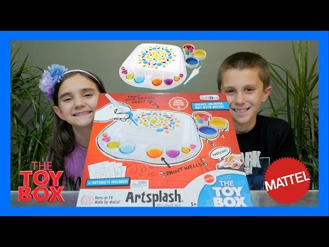 THE TOY BOX WINNING TOY - ARTSPLASH 3D LIQUID ART BY MATTEL