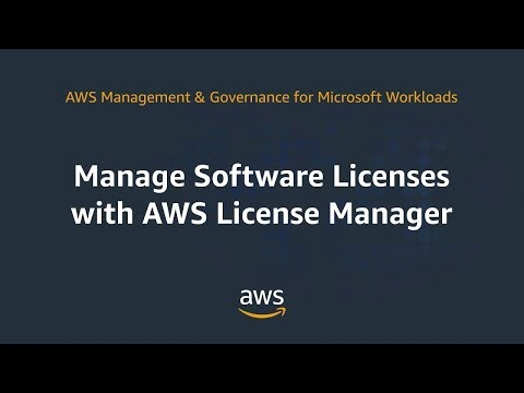 Manage Software Licenses with AWS License Manager