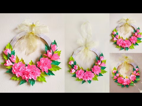 paper-wreath-for-christmas-decoration-ideas-|-paper-christmas-wreath-|-paper-flower-wall-hanging
