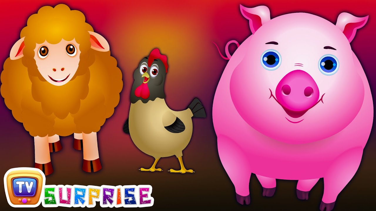 ChuChu TV Surprise Eggs Nursery Rhymes Toys   Wheels on the Bus   Farm Animals and Animal Sounds
