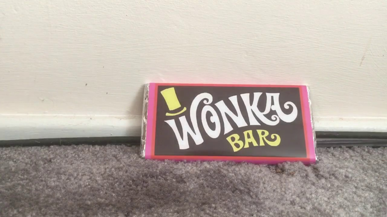 Wonka Bar Unwrapping With Golden Ticket Youtube