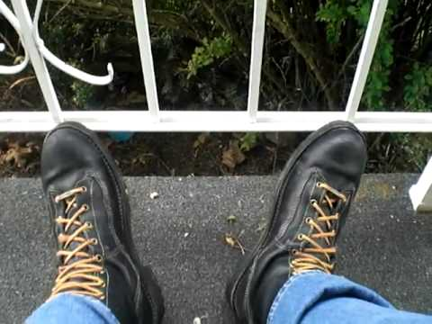 Danner Rainforest porch railing boot play - YouTube