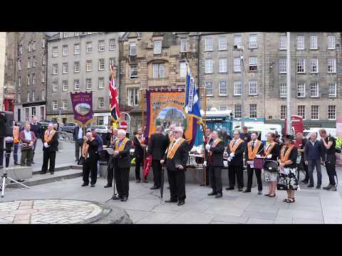 Orange Order Memorial Service - Edinburgh - 24-JUN-17 - [4K/UHD]