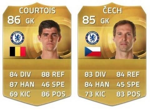 FIFA 15 FIGHT   COURTOIS VS CECH   BEST CHELSEA GK?